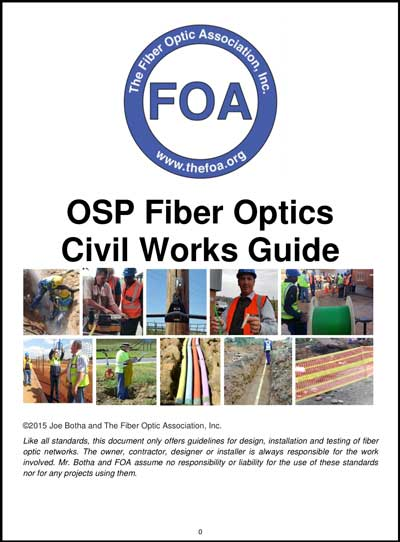 Foa Lesson Plan Introduction To Outside Plant Fiber Optics