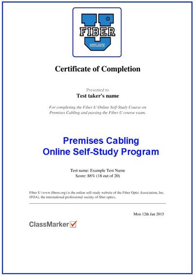 fiber u - foa online self-study programs about fiber optics and cabling