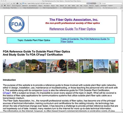 FOA Online Reference Guide to OSP Fiber Optics